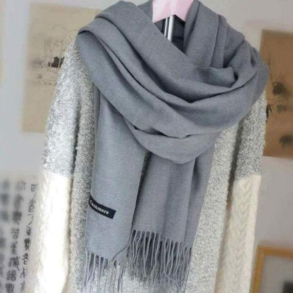 Khăn choàng cổ nữ, Khăn Cashmere chất vải Len mềm mịn Hàng Quảng Châu cao cấp
