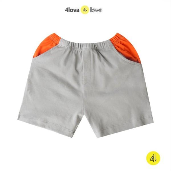 Quần short 4LOVA chất liệu cotton họa tiết cá tính cho bé trai