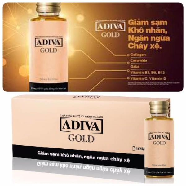 Bộ 02 hộp Collagen ADIVA GOLD (1 hộp 14 chai x 30ml) nhập khẩu