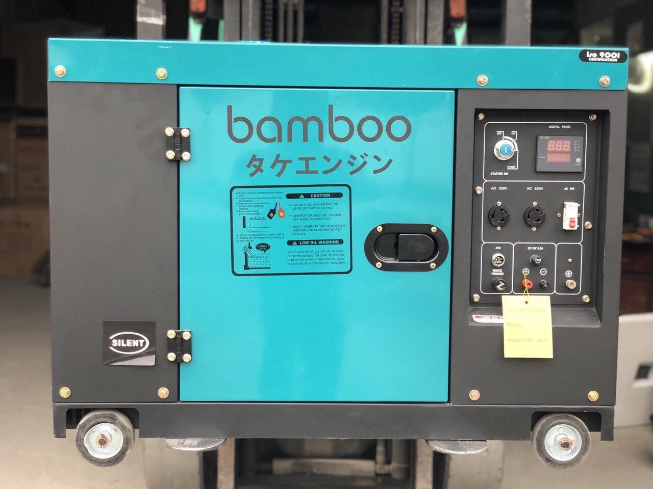 Máy phát điện chạy dầu Bamboo JAPAN BmB 9800 ET 8kw 1 pha