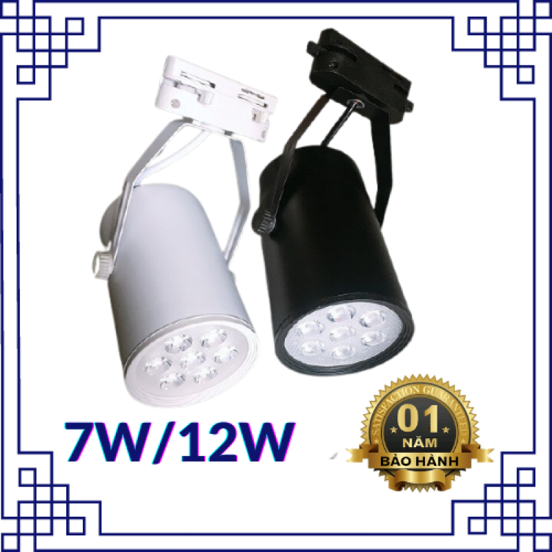 Đèn rọi mắt hạt chính hãng, vỏ đen, trắng 7w 12w ánh sáng trắng, tiết kiệm điện - Đèn Led 24h