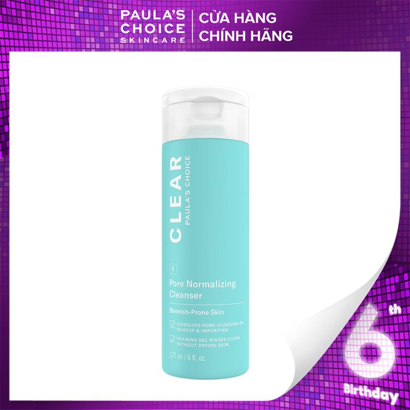 Sữa rửa mặt  dạng gel ngăn ngừa mụn và se khít lỗ chân lông Paula's Choice Clear Pore Normalizing Cleanser 177 ml 6002 giá rẻ
