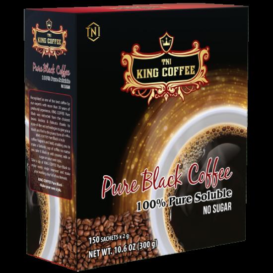 Cà Phê Hòa Tan 100% Đen Thuần Khiết KING COFFEE - Hộp 150 Gói X 2g - Không Đường - Từ Hạt Cà Phê Arabica & Robusta Chọn Lọc Giá Tiết Kiệm Nhất Thị Trường