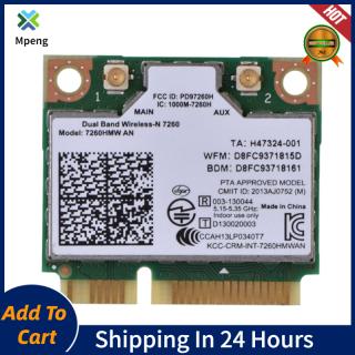 Intel 7260AN 7260HMW Mini PCI-E 300M Bluetooth 4.0 Thẻ WiFi Không Dây Băng Tần Kép thumbnail