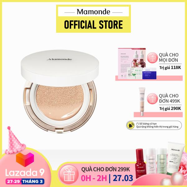 Phấn nước chống nắng, dưỡng sáng da và che khuyết điểm Mamonde Brightening Cover Powder Cushion SPF 50+ PA+++ 15g giá rẻ