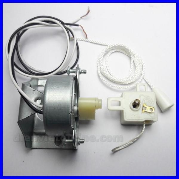 Bộ motor chuyển hướng quạt ( Bát + motor + cục nhựa + công tắc chuyển hướng ) - Điện Việt