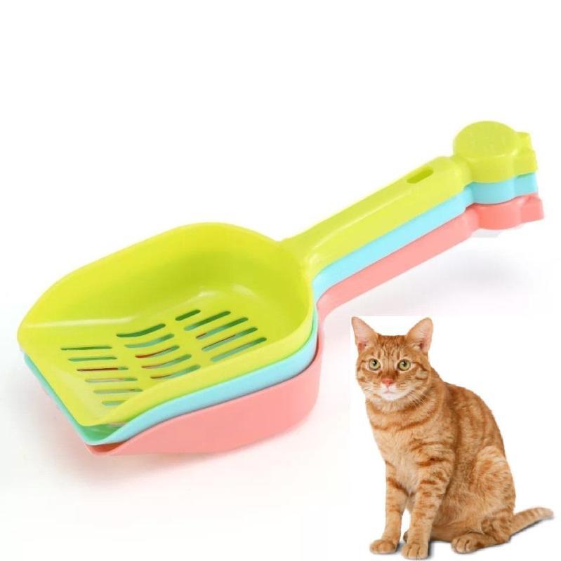 Hanpet.HCM miễn ship 129k-  Hót phân mèo - xẻng nhựa xúc cát vệ sinh mèo-xẻng hót kít mèo