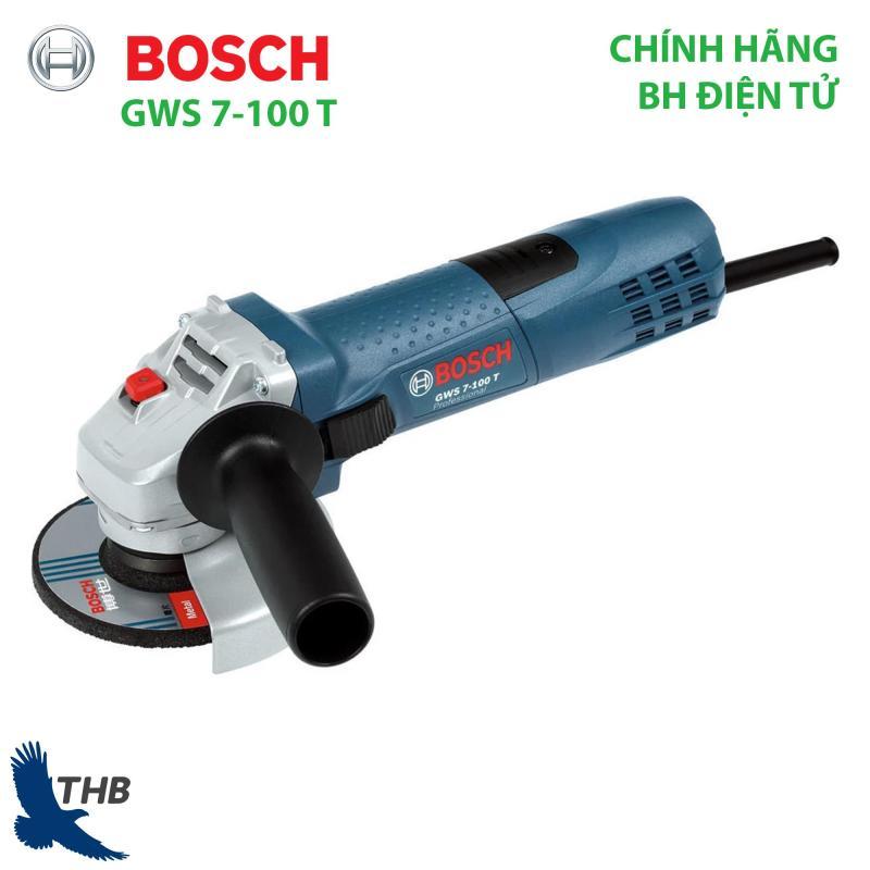 Máy mài góc nhỏ Máy cắt cầm tay Bosch GWS 7-100 T công suất 600W đá mài 100 bảo hành điện tử 12 tháng