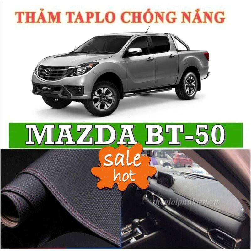 Thảm phủ taplo da xe Mazda Bt 50 đời 2015 2019, thảm taplo da vân cacbon-Nhà Buôn Đồ Chơi Xe Hơi