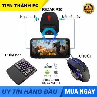 COMBO Bộ chuyển đổi game REZAR P30 + Bàn phím K108 + Chuột chơi game PUBG, ROS, Free Fire và các game FPS khác,công nghệ Flymapping, chơi trực tiếp từ AppStore thumbnail