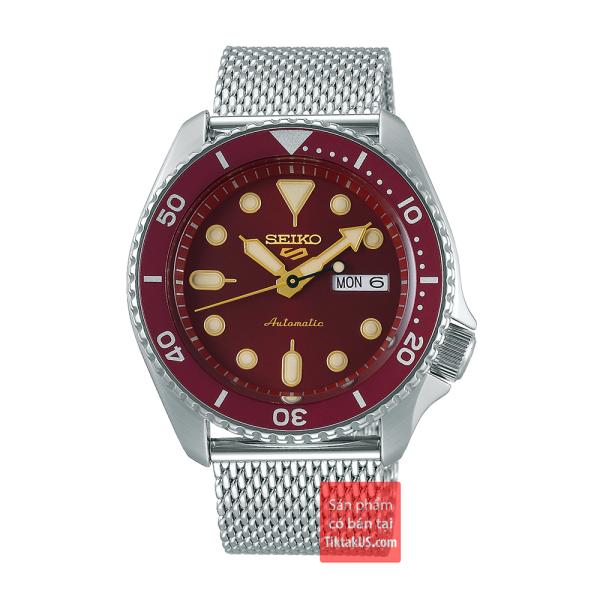 Đồng hồ nam Automatic Seiko 5 sport SRPD69K1 size 42mm dây thép vỏ thép không gỉ chống nước 100m trữ cót 40 tiếng