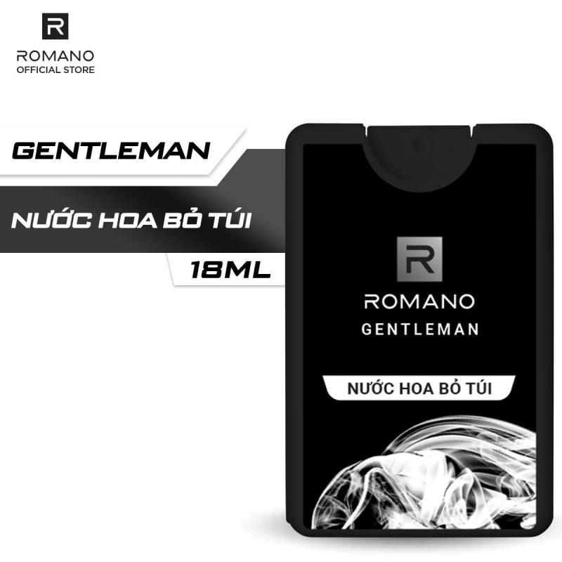 Nước hoa bỏ túi Romano Gentleman hiện đại ấn tượng 18ml giá rẻ