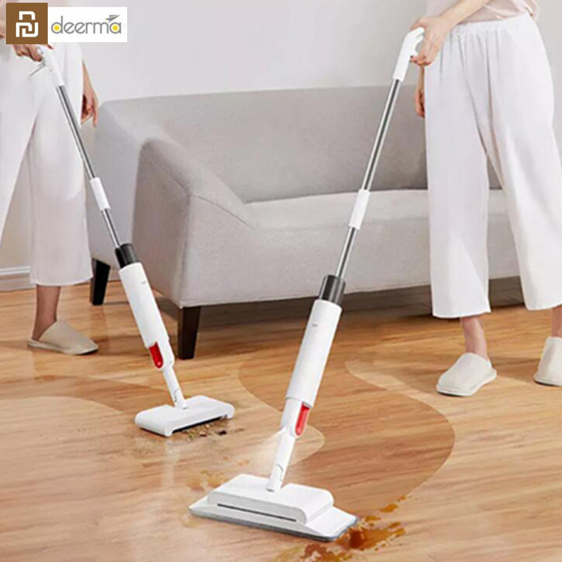 Youpin Deerma TB900 Sweeping and Mopping 2 in 1 Handheld Water Spraying Mop Floor Cleaner Rotatable Spiral Rolling Brush Sweeper