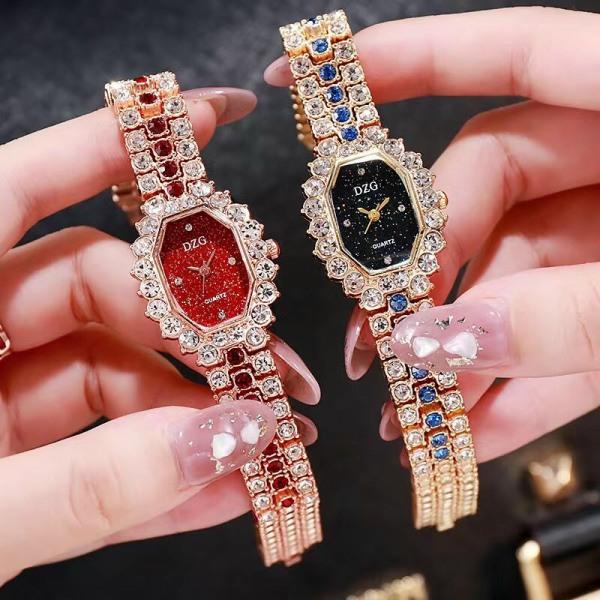 Nơi bán Đồng hồ thời trang nữ Dzg D1 dây kim loại đính đá HlLzd1