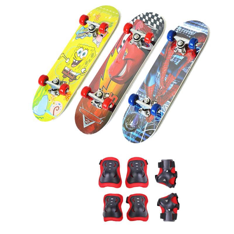 Mua Ván trượt trẻ em Skateboard tặng kèm bộ bảo hộ tay chân