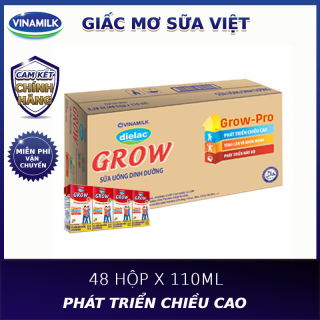 [FREESHIP 0Đ]-Thùng 48 hộp sữa bột pha sẵn Vinamilk Dielac Grow 110ml thumbnail