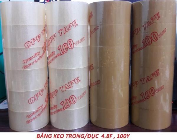 Mua Cây 6 cuộn băng keo trong OPP 5F 1kg/cây chất liệu OPP độ dính cao đảm bảo được khả năng chịu lực dùng đóng gói sản phẩm