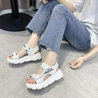 (Video 2 màu) Sandal nữ,sandal hoa cúc 2 quai chữ kí kiểu dáng trẻ trung 7