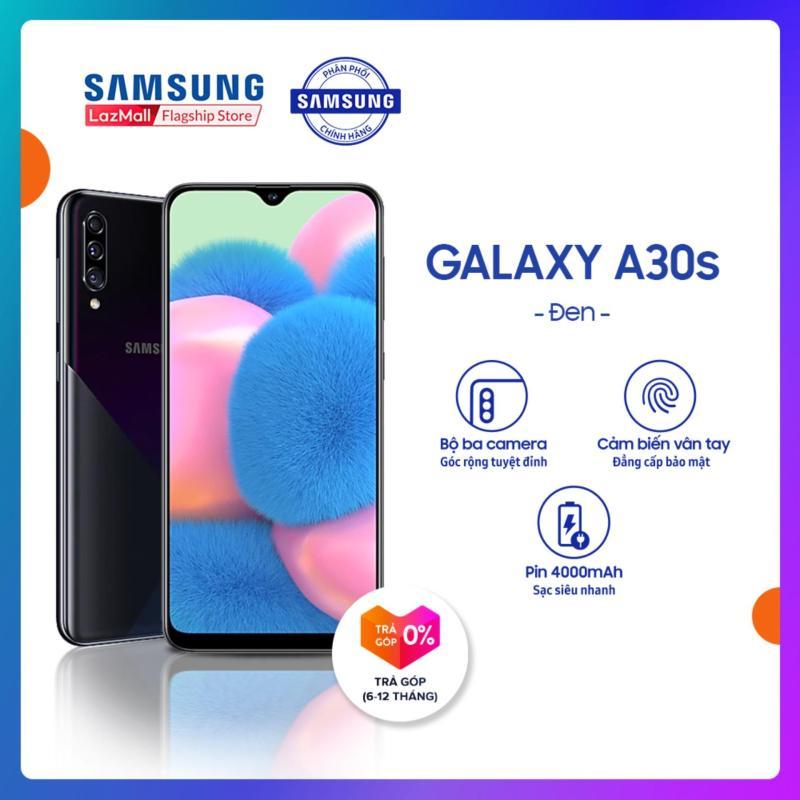 Điện Thoại Samsung Galaxy A30s 64GB (4GB RAM) - Màn hình tràn 6.4 inch Vô Cực Super AMOLED + Cảm biến vân tay tích hợp trên màn hình + Cụm 3 camera sau + Pin 4000 mAH - Hàng Phân Phối Chính Hãng.