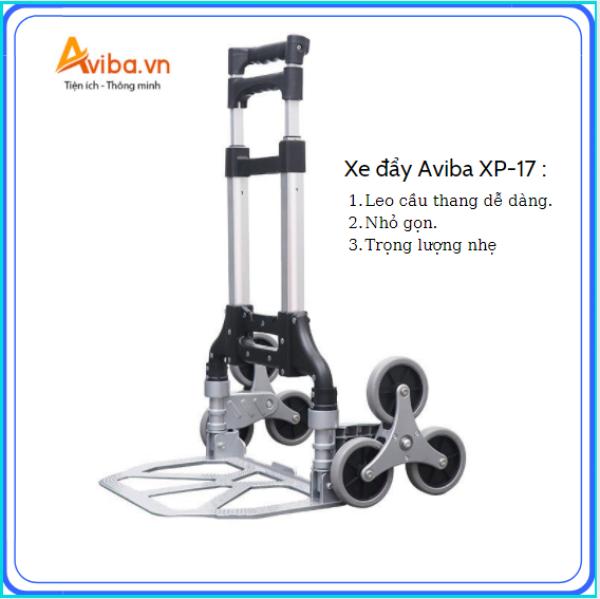 Xe kéo hàng chất liệu hợp kim Aviba AX-100 (có thể leo thang) nhập khẩu chính hãng