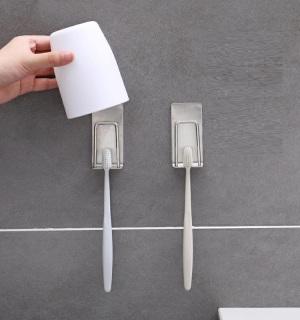 Combo 2 Giá treo bàn chải đánh răng INOX SUS304 dán tường gạch men keo 3M -iuiushop thumbnail