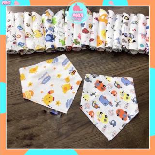 Yếm cotton hình tam giác có cúc bấm cho bé trai, bé gái HÀNG ĐẸP nhà Buna babykids thumbnail