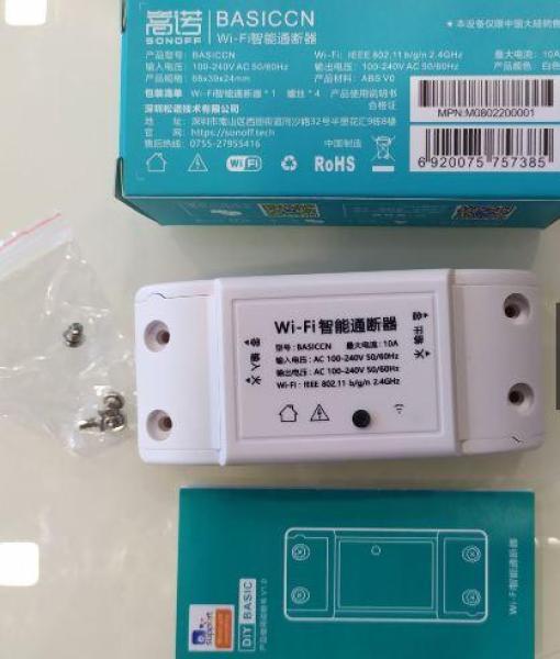 [Có Video HD] Công tắc WiFi SONOFF BASIC mẫu mới 2020 điều khiển mọi thiết bị qua smart phone - Hỗ trợ APP Ewelink Google Assistant