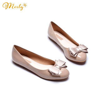 Giày búp bê đính nơ Merly 1110