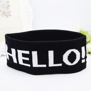 Băng đô headband Kpop, Cpop thời trang thể thao rộng 8cm dệt kim tập yoga, gym PST bản to trẻ trung TB2.2 Hello thumbnail
