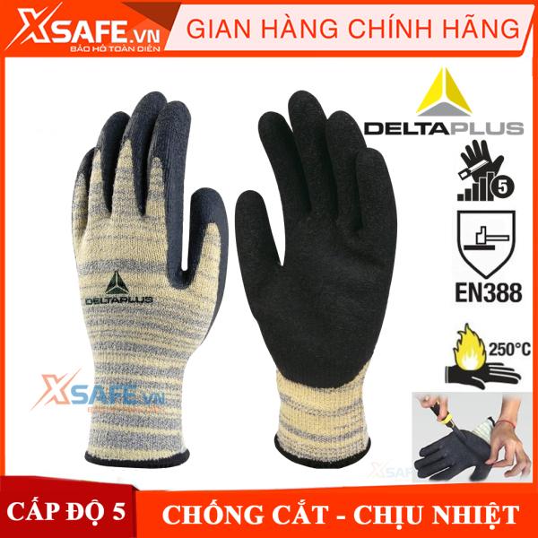 Găng tay chống cắt Deltaplus Venicut 52 cấp độ 5 chịu nhiệt 250 độ C, độ khéo léo cao phủ nitril chống dầu nhớt bảo tay bảo hộ chuyên dụng cho cơ khí kỹ thuật, làm việc với tôn sắt thủy tinh…