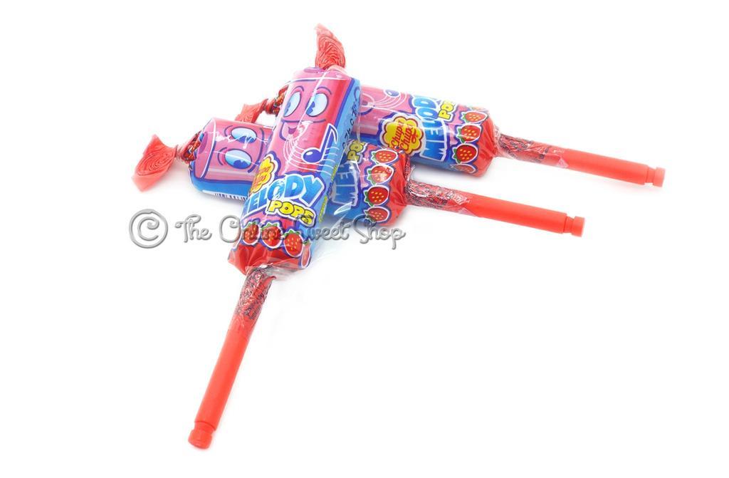 [Siêu Hot] Combo 3 cái kẹo thổi sáo Chupa Chups Melody Pops ( vừa ăn vừa thổi sáo) vị Dâu Tây ( Mẫu mới  - Nội địa Tây Ban Nha - Xách tay Spain - HSD ; 10/2020 )