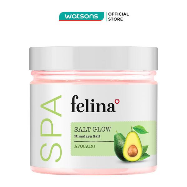 Muối Tắm Felina Salt Avocado Tẩy Tế Bào Da Chiết Xuất Bơ 500g