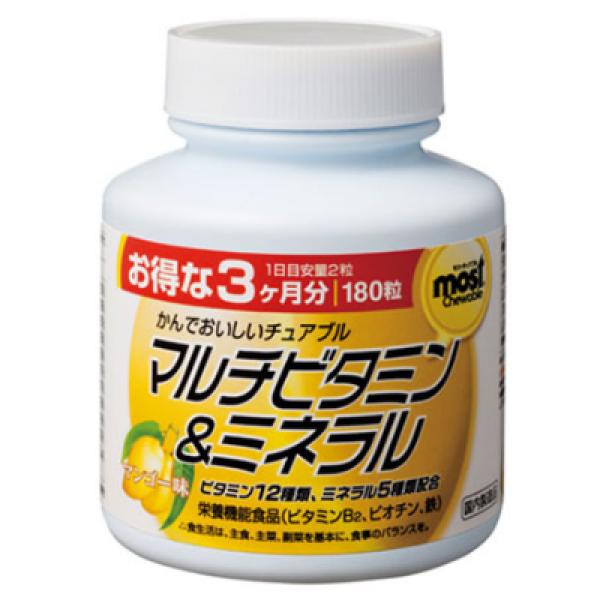 VIÊN UỐNG BỔ SUNG VITAMIN VÀ KHOÁNG CHẤT CHO CƠ THỂ ORIHIRO (HỘP 180 VIÊN) - HÀNG NỘI ĐỊA NHẬT, bổ sung tăng cường Vitamin cho cơ thể, tăng sức đề kháng