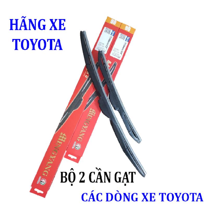 Bộ 2 thanh gạt nước mưa ô tô đa năng Nano cao cấp dành cho hãng xe Toyota: Camry-Altis-Yaris-Fortuner-Vios-Hilux-Innova-Land Cruiser-Avalon-Previa