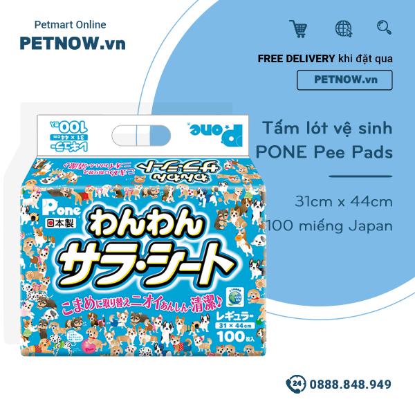 Tấm lót vệ sinh PONE Pee Pads 31cm x 44cm - 100 miếng Japan PETNOW.VN