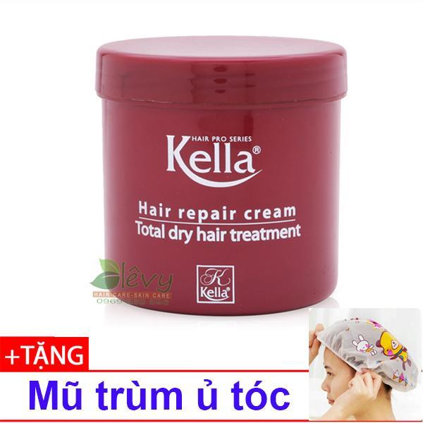 Hấp dầu suôn mềm bóng tóc Kella 500ml + 01 mũ trùm ủ tóc nhập khẩu