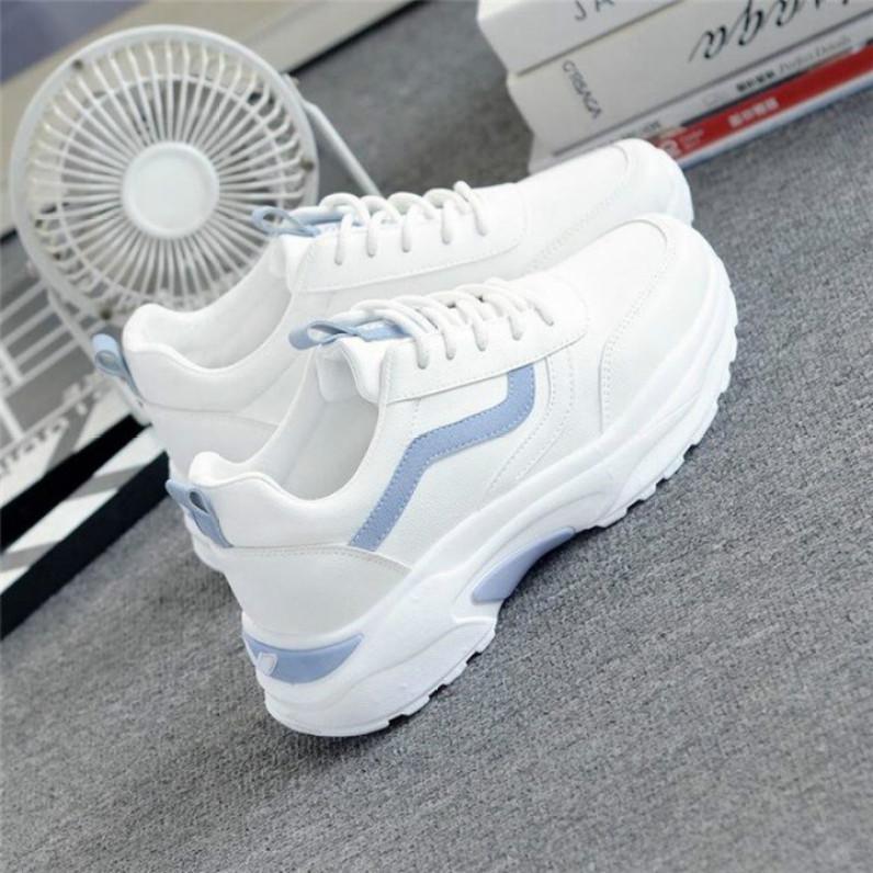 Giày Thể Thao Nữ Màu Trắng Viền Xanh Siêu Hot giá rẻ