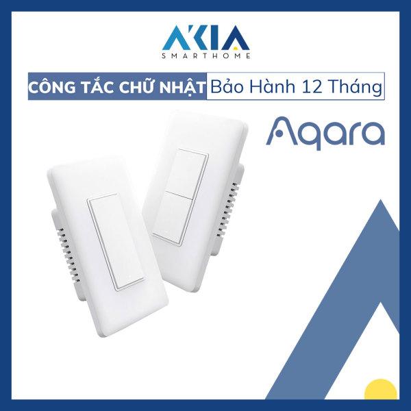 [HCM]Công tắc Aqara Smart Wall Switch mặt chữ nhật - Công tắc thông minh Aqara Zigbee, Công tắc điều khiển từ xa, Công tắc hẹn giờ bật tắt, Tương thích Apple HomeKit và Aqara Home