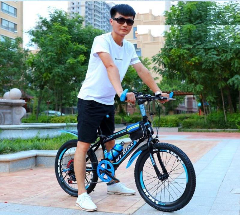 Mua xe đạp thể thao 20 inh cho bé trai học cấp 1 (6-12 tuổi) TẶNG KÈM GIỎ VÀ GÁCBAGA