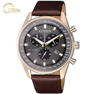 Đồng hồ Citizen Nam Eco-Drive AT2393-17H mặt đen, dây da, kính cứng - Máy chạy năng lượng ánh sáng thumbnail