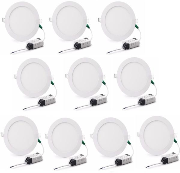 Bộ 10 đèn led âm trần 12w siêu mỏng bảo hành 12 tháng