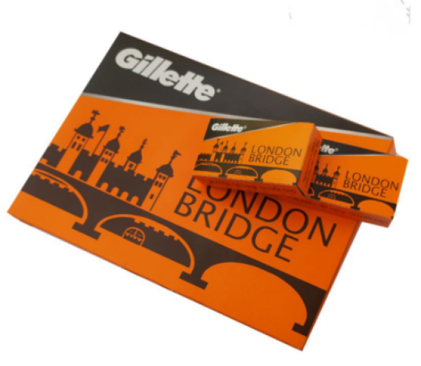 Vỉ 100 cái Lưỡi dao lam Gillette London Bridge giá rẻ