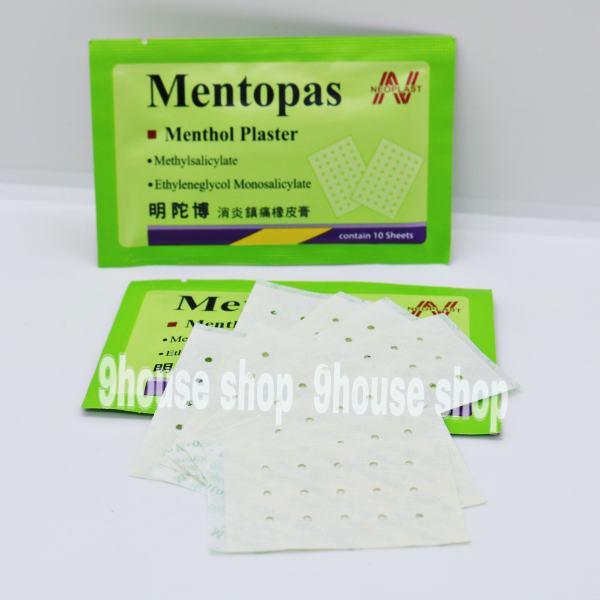 01 Gói Cao Dán MENTOPAS Neoplast Giảm Đau Nhức Thái Lan (1 Gói 10 miếng) - XANH NHẠT