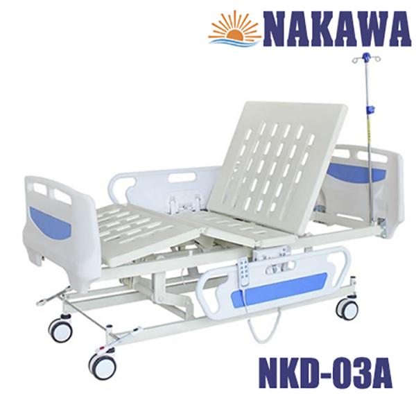 Giường y tế điện đa năng abs Nakawa NKD-03A -[Giá:15.790.000]- Giường bệnh nhân điện cơ cao cấp - giường bệnh viện giá rẻ - giường cho người bệnh - nursing beb nhập khẩu