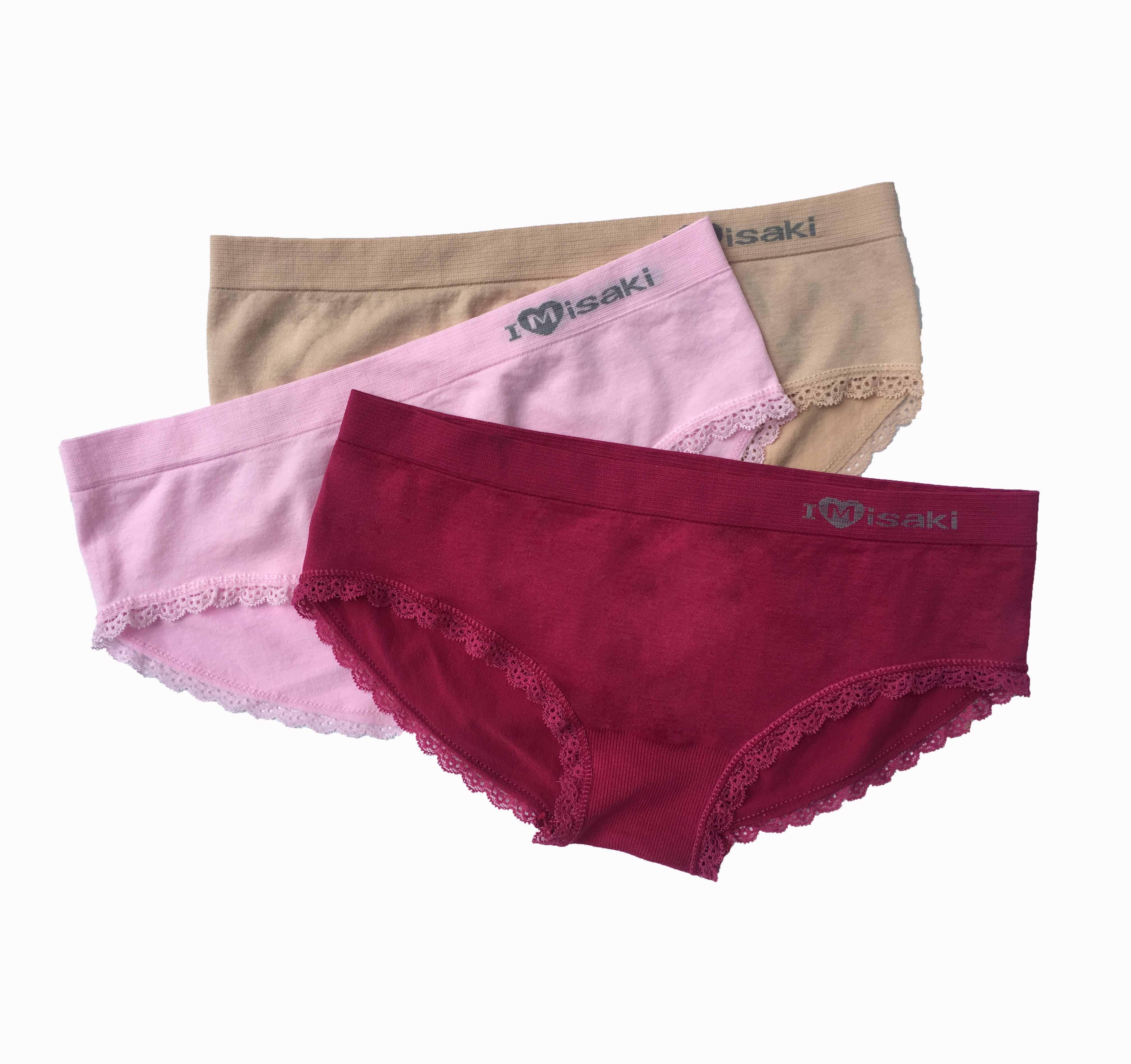 Offer Ưu Đãi Combo 3 Quần Lót Misaki Không đường May Bikini (Tím, Da, Đỏ)