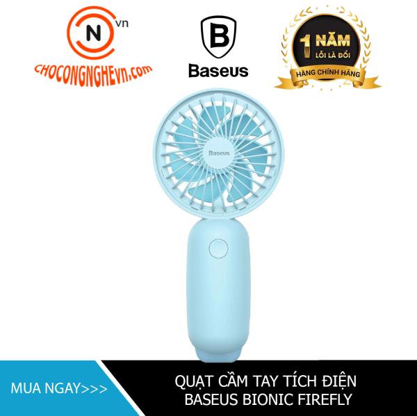 🌟CHÍNH HÃNG🌟 Quạt tích điện cầm tay mimi pin sạc Baseus Bionic Firefly(Pin sạc, 3 mức tốc độ, đèn LED đom đóm, cầm tay)