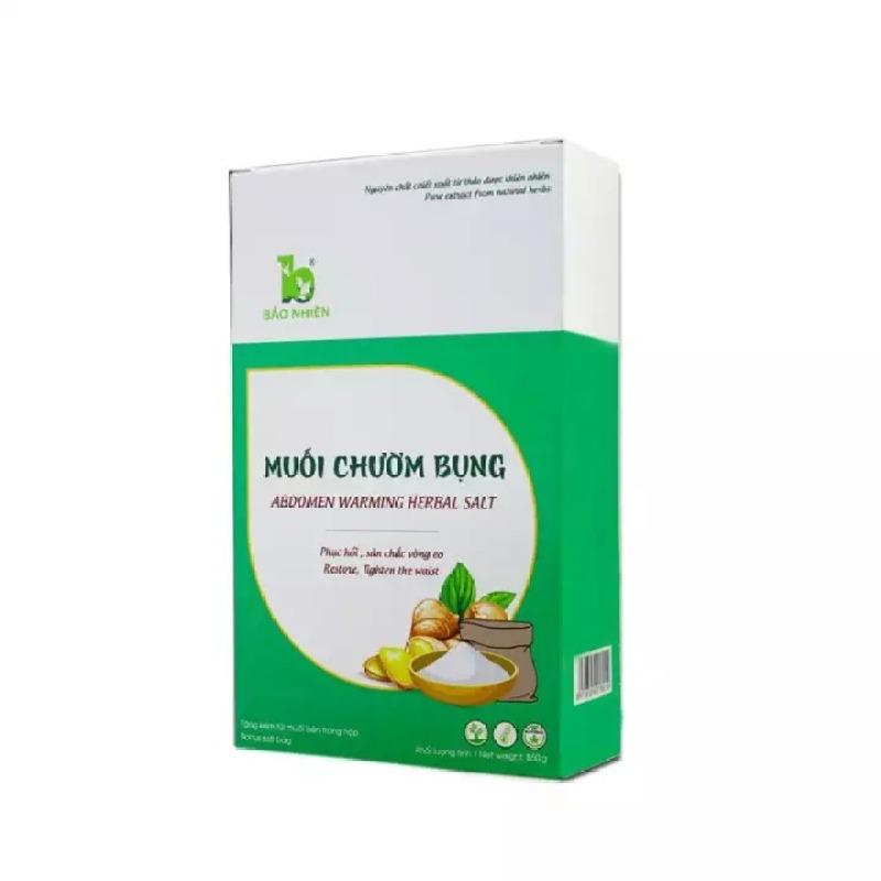 Muối chườm bụng Bảo Nhiên 850g giúp Săn bụng – Giảm eo – Mờ rạn + Tặng kèm túi đựng muối trong mỗi hộp cao cấp