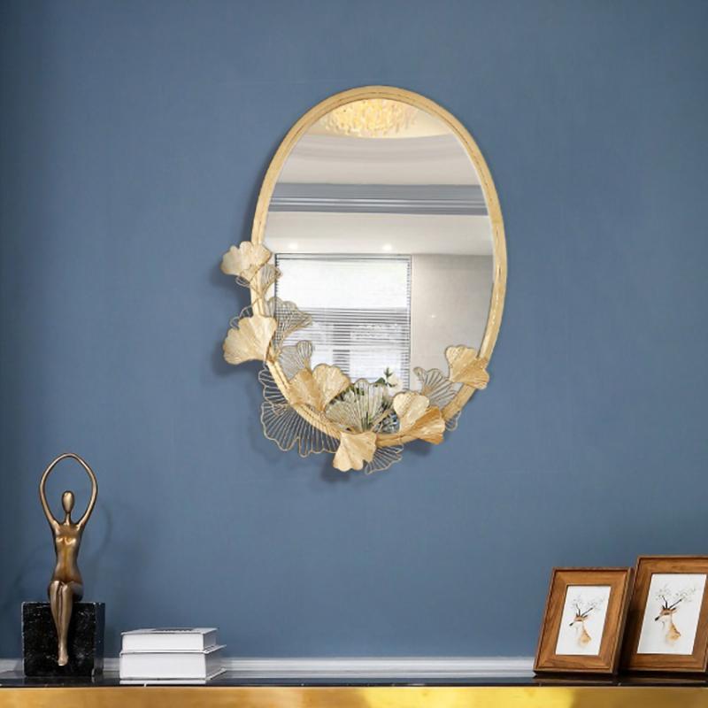 Gương trang điểm gắn tường lá Sen cao cấp trang trí phòng ngủ đẹp độc lạ - Gương treo tường khổ lớn treo tường nhà tắm