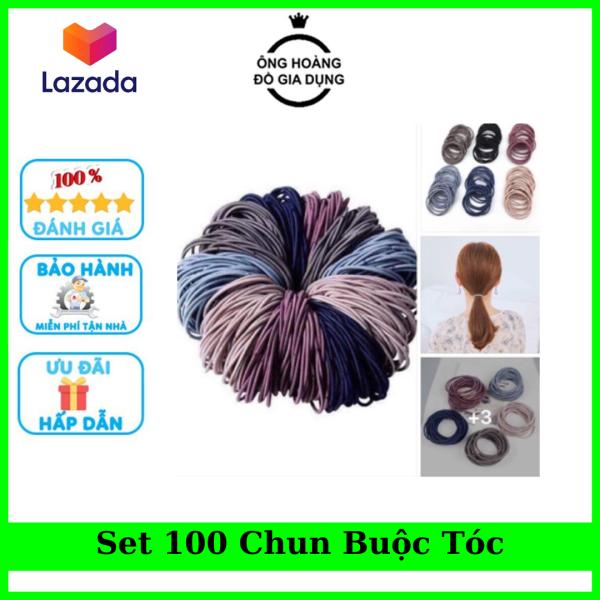 Set 100 Chiếc Chun Vòng Buộc Tóc Hàn Quốc Nhiều Màu Sắc - Cực Đẹp