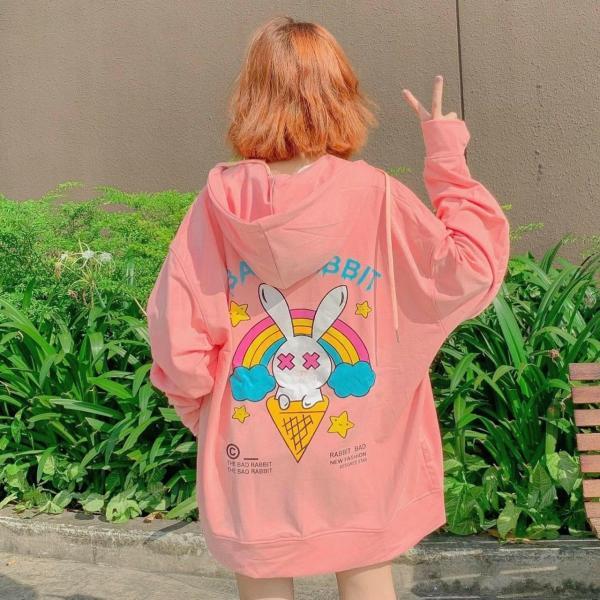 [FREESHIP TOÀN QUỐC] Áo khoác , áo khoác nữ dây kéo rabbit from rộng phong cách Hàn Quốc mẫu hot giá rẻ